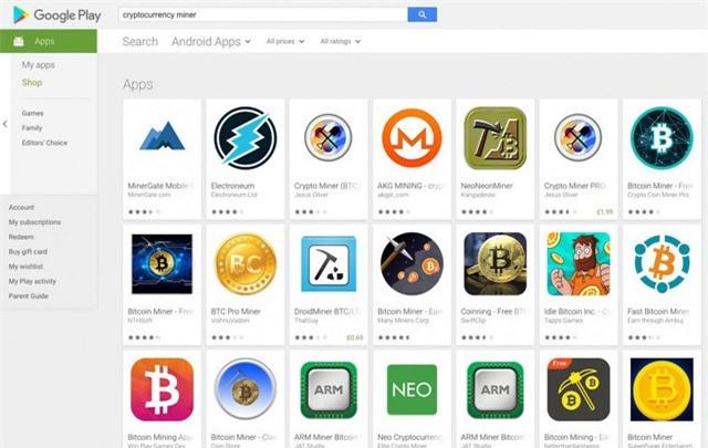 """Ứng dụng đào tiền ảo vẫn """"nhan nhản"""" dù Google phát lệnh cấm"""