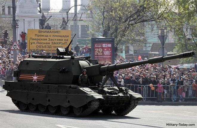 Ảnh: Sức mạnh siêu pháo tự hành 2S35 Koalitsiya-SV của Nga