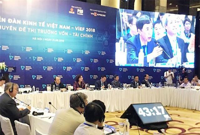 Diễn đàn chuyên đề Vốn – Tài chính dành nhiều thời gian thảo luận về các phương án quản lý vốn và tài chính của doanh nghiệp Việt Nam