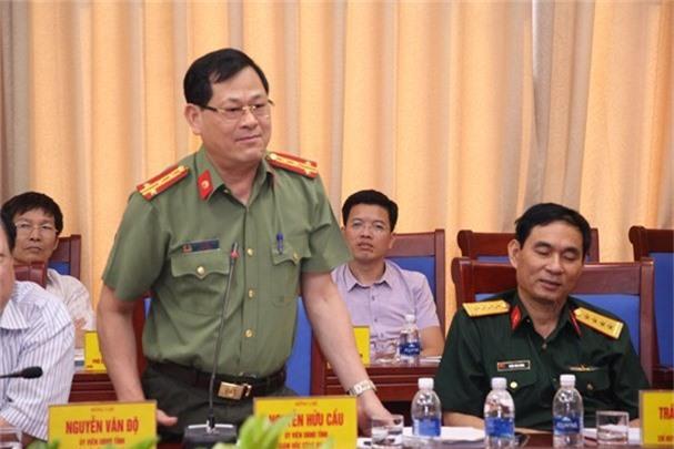 Đại tá Nguyễn Hữu Cầu - Giám đốc Công an tỉnh Nghệ An cho biết, đến tháng 8-2019 Ban Giám đốc Công an Nghệ An chỉ còn 6 người. (Ảnh: Đào Tuấn)