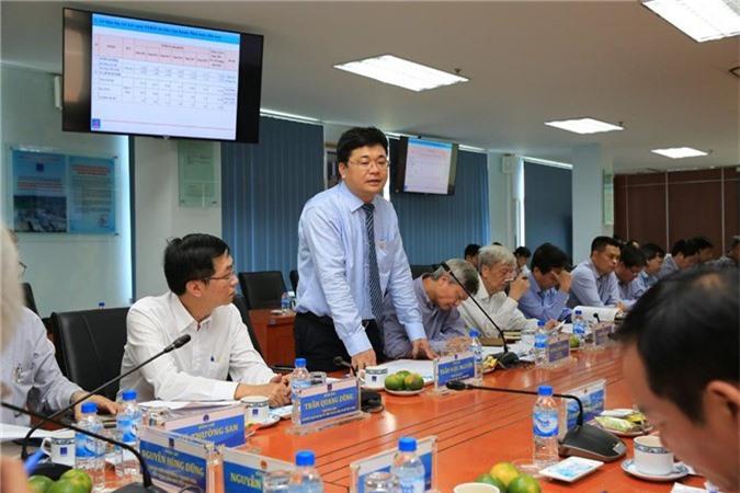 Tổng giám đốc BSR Trần Ngọc Nguyên báo cáo tình hình sản xuất kinh doanh