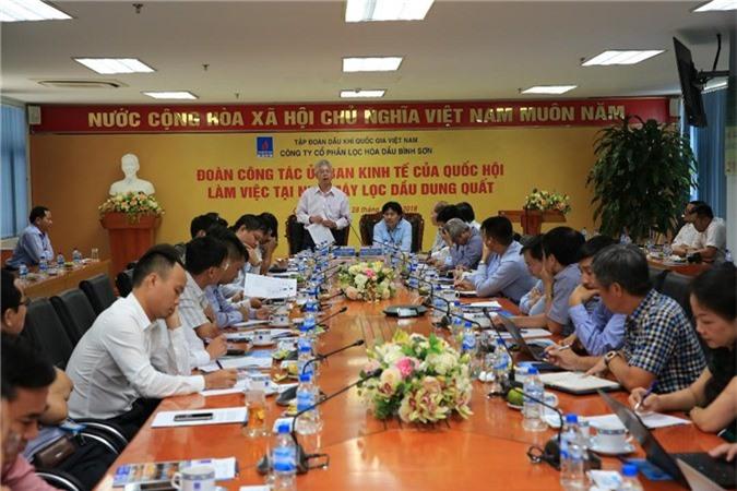 Phó Chủ nhiệm Ủy ban Kinh tế Quốc hội Nguyễn Đức Kiên phát biểu chỉ đạo tại buổi làm việc