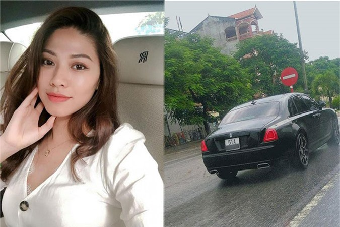 MC Ngoc Trinh so huu Rolls-Royce Ghost tien ty do Black Badge
