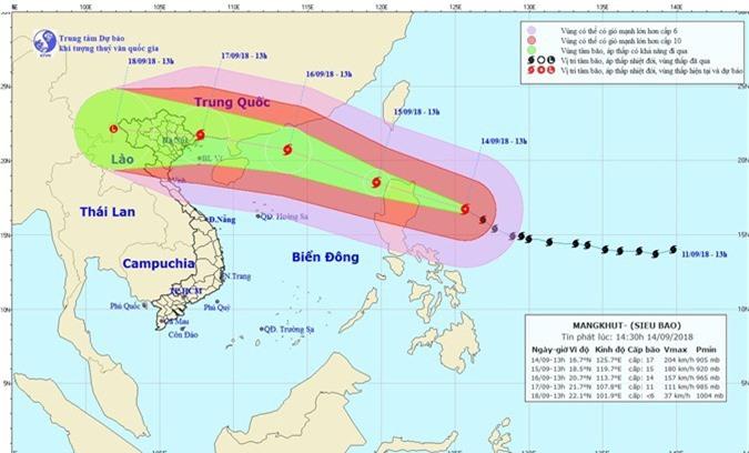 CẬP NHẬT: Tin mới nhất về Siêu bão Mangkhut và các chỉ đạo ứng phó