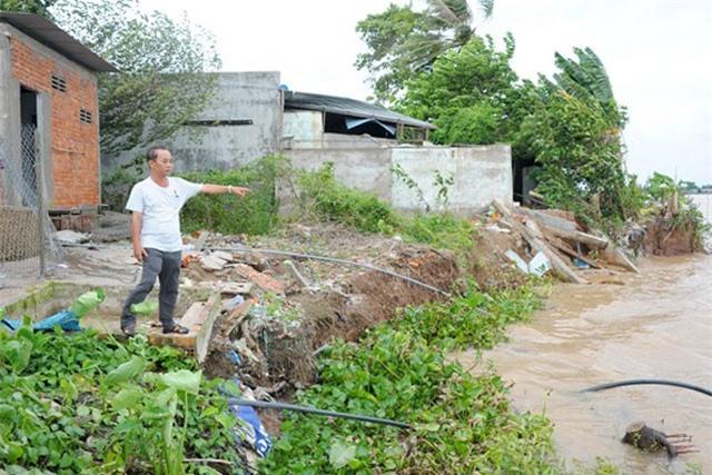 Đồng Tháp: Sạt lở bờ sông gây thiệt hại hơn 11 tỷ đồng