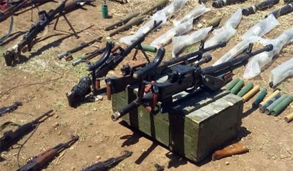 Phục kích khu vực Đông Homs, quân đội Syria tịch thu một loạt vũ khí của khủng bố