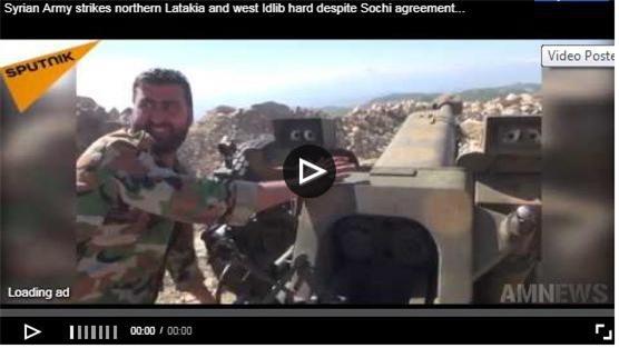 Clip: Bất chấp thỏa thuận Sochi, quân đội Syria khai hỏa dữ dội vào Latakia và Idlib