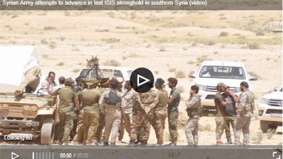 Clip: Quân đội Syria nhắm vào pháo đài cuối cùng của IS ở Al-Sweida