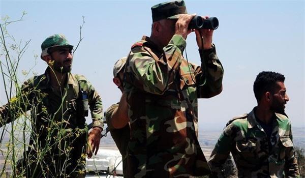 Quân đội Syria chĩa đạn pháo vào IS ở Toloul al-Safa, diệt hàng loạt tay súng bắn tỉa