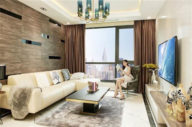 Căn hộ mẫu Sunshine City với nhiều chi tiết nội thất cao cấp dát vàng, tại khu đô thị quy hoạch đạt chuẩn quốc tế khu vực Tây Hồ Tây .