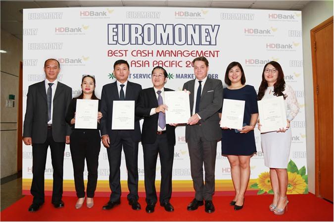 HDBank - Ngân hàng có dịch vụ Quản lý tiền mặt tốt nhất Châu Á - Thái Bình Dương năm 2018