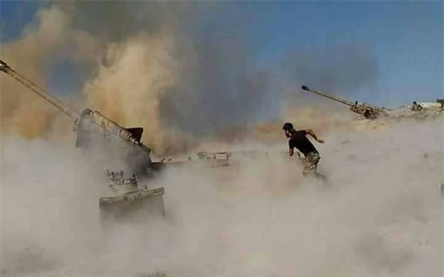 Các lực lượng Syria được Mỹ hậu thuẫn đang chiến đấu chống IS ở