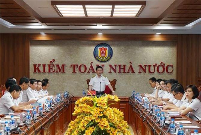 Tổng Kiểm toán nhà nước Hồ Đức Phớc chủ trì Hội nghị giao ban tháng 10/2018. Ảnh: MT