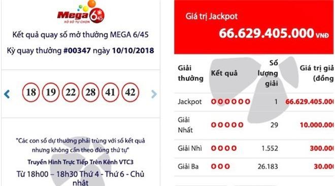"""sau 2 thang duoc """"vo beo"""", jackpot """"khung"""" mega 6/45 """"no"""" o quang ninh hinh anh 1"""