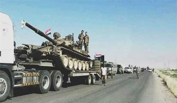 Quân đội Syria điều thêm quân và vũ khí tới Sweida kết liễu IS. (Ảnh: FNA)