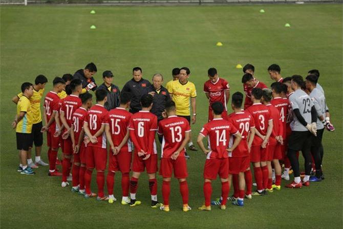 Đội tuyển Việt Nam tập bài lạ trước ngày đi Hàn Quốc
