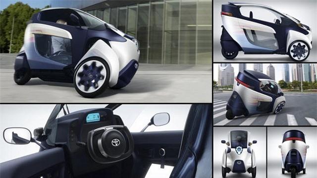 Toyota i-Road Concept là phương tiện cá nhân hữu ích trong không gian đô thị chật hẹp