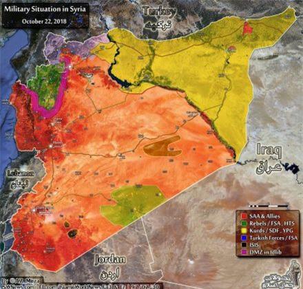 """Bản đồ chiến sự tháng 10/2018: """"Hòa bình kiểu Syria"""" không kéo dài lâu"""