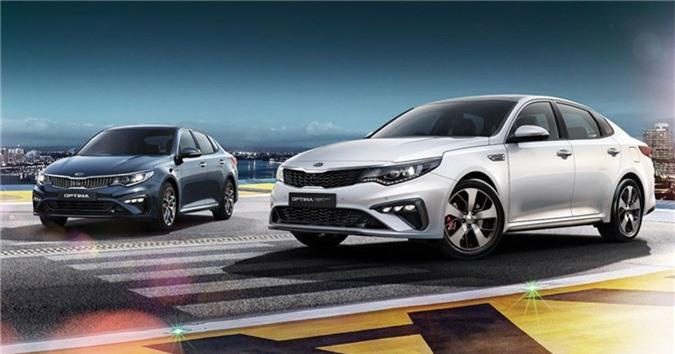 Kia Optima GT 2019 có 5 tùy chọn màu ngoại thất gồm: trắng ngọc trai, đen, xanh dương, bạc và xám đen. Xe có mức giá từ 40.400 USD (chưa bao gồm phí bảo hiểm) với gói bảo hành 5 năm không giới hạn số km.