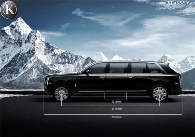 Muc so thi ban do Rolls-Royce Cullinan thanh limousine chong dan hinh anh 4
