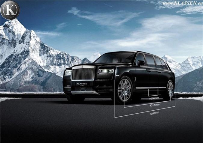 Muc so thi ban do Rolls-Royce Cullinan thanh limousine chong dan hinh anh 5
