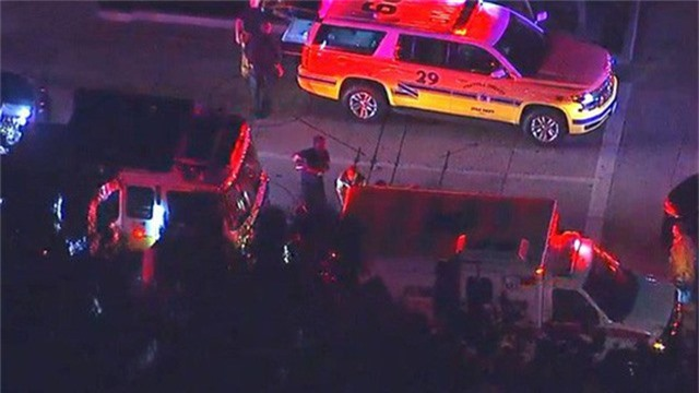 Cảnh sát nhanh chóng có mặt tại hiện trường. Ảnh: ABC7