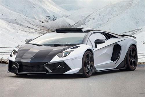 =6. Lamborghini Aventador LP1600-4 Mansory Carbonado GT 2014 (công suất tối đa: 1.600 mã lực ).