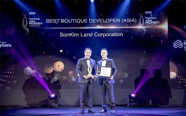 """SonKim Land  chiến thắng giải """"Best Boutique Developer"""" tại BĐS Châu Á 2018"""