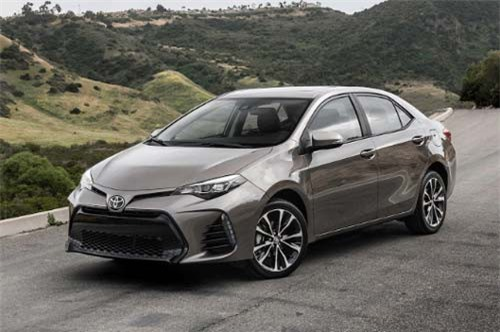 10. Toyota Corolla (doanh số: 8.381 chiếc).