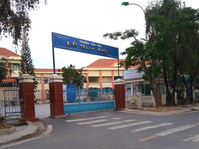 Trường Tiểu học Lê Quý Đôn, nơi xảy ra hàng loạt sai phạm của lãnh đạo nhà trường (Ảnh: VH)