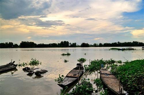 Búng Bình Thiên nằm ở phía Bắc huyện An Phú, thuộc khu vực giáp ranh của các xã Khánh An, Khánh Bình, Nhơn Hội, Quốc Thái. Ảnh: Diem Dang Dung.
