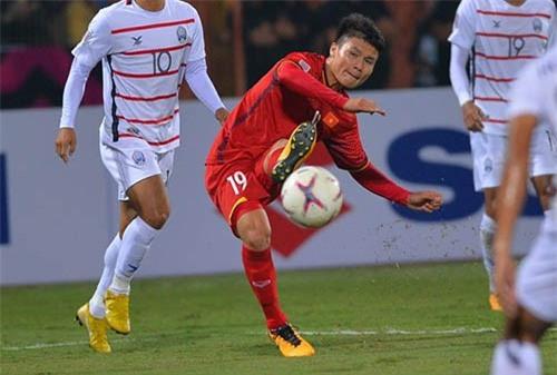 Quang Hải được đánh giá cao nhất trong đội hình Việt Nam
