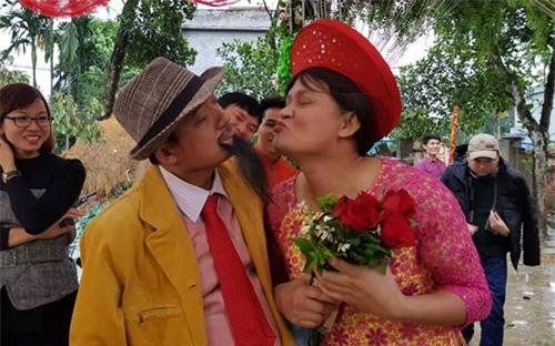 Cặp đôi vợ 62 chồng 26 vào phim hài Tết của Chiến Thắng, Bình Trọng