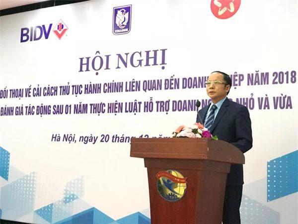 Ông Nguyễn Văn Thân - Chủ tịch TW HH DNNVV Việt Nam. (Ảnh: Ánh Tuyết)