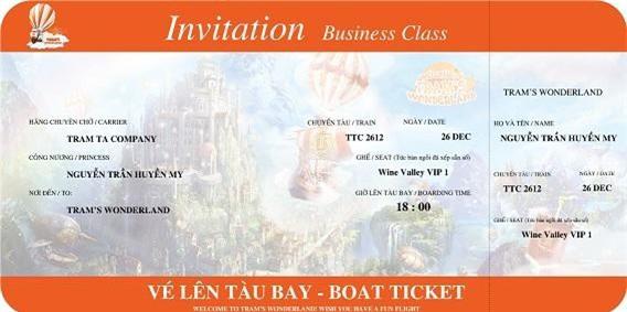 Thiết kế thiệp mời ấn tượng theo phong cách xứ sở thần tiên được gửi đến khách mời tham dự sự kiện