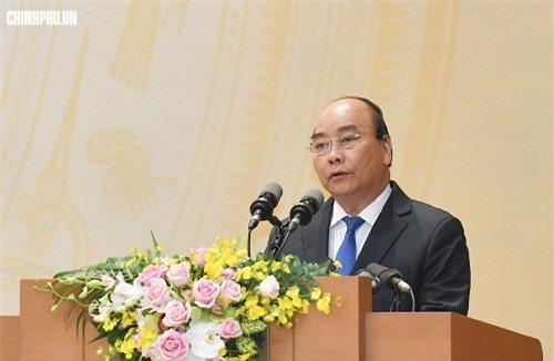 Thủ tướng Chính phủ Nguyễn Xuân Phúc phát biểu.