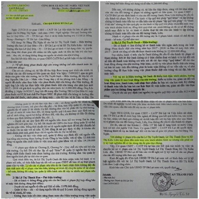"""Hiệu trưởng Oanh thừa nhận không đủ năng lực quản lý, điều hành nhưng vẫn """"tại vị"""" ở ngôi trường lớn nhất TP. Đà Lạt (Ảnh: VH)"""