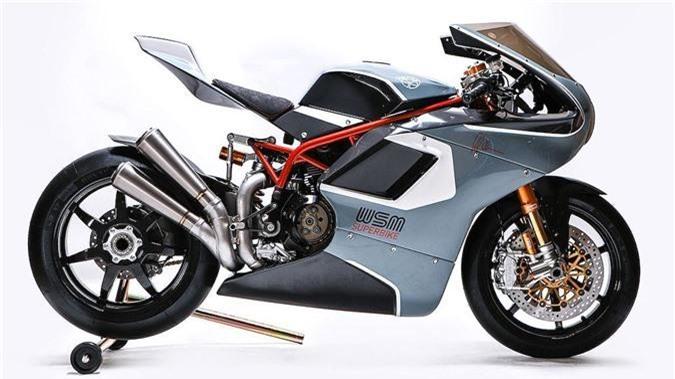 """Ngắm siêu mô tô """"hàng thửa"""" WSM SBK chạy máy Ducati. Dựa trên cơ sở động cơ cùng nhiều chi tiết từ các dòng Ducati, hãng độ Walt Siegl Motorcycles đã tạo ra mẫu superbike tân hoài cổ WSM SBK với hiệu năng ấn tượng. (CHI TIẾT)"""