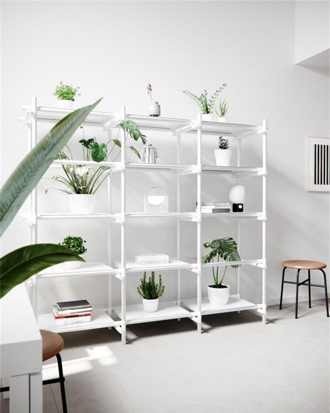 Căn hộ với sự kết hợp hoàn hảo giữa màu xanh của lá và màu trắng của phong cách Scandinavian - Ảnh 10.