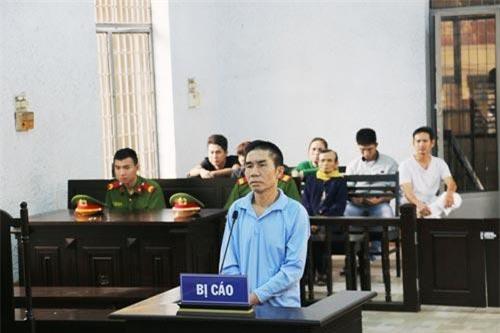 Bị cáo Hùng tại phiên tòa sơ thẩm