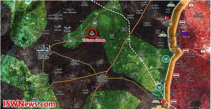 Syria: Phiến quân kiểm soát căn cứ chiến lược, bản đồ chiến sự Idlib thay đổi