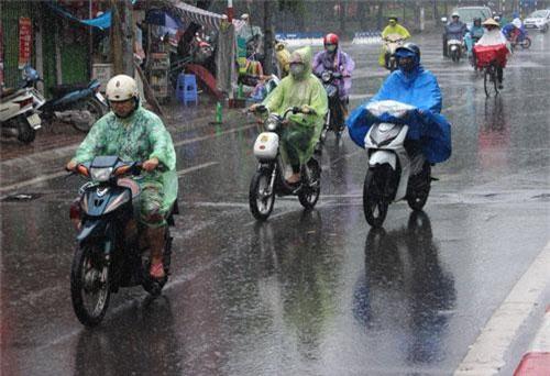 Trời mưa, nhiệt độ xuống thấp ở nửa phía Bắc miền Trung