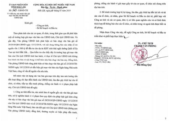 Đắk Lắk: Cảnh báo tình trạng giả mạo văn bản của lãnh đạo tỉnh