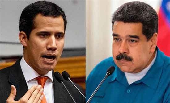 Tổng thống Venezuela Nicolas Maduro (phải) và thủ lĩnh đối lập Juan Guaido. (Ảnh: LaRepublica.pe)