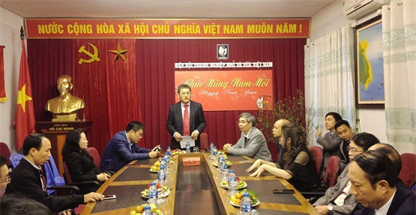 Ông Phạm Huy Hùng - Phó Chủ tịch VINASME - phát biểu tại buổi gặp mặt.