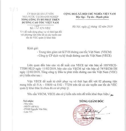 """VEC từ chối phục vụ vĩnh viễn 2 ô tô: Nói dối như """"cuội"""", thu phí sao minh bạch?"""