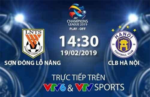 CHÍNH THỨC: Đài THVN tường thuật trực tiếp trận đấu giữa CLB Sơn Đông Lỗ Năng và CLB Hà Nội