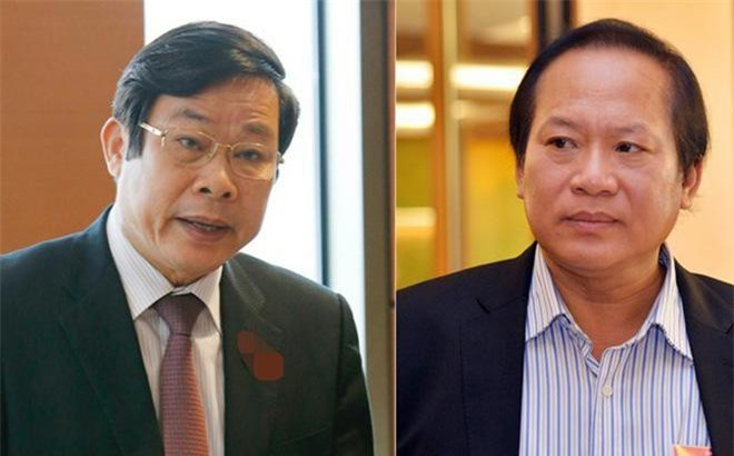 Hai nguyên Bộ trưởng Bộ Thông tin- Truyền thông- Nguyễn Bắc Son và Trương Minh Tuấn bị bắt giam