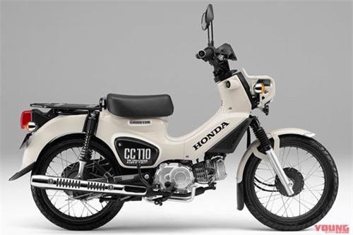 Màu trắng cổ điển trên Honda Cross Cub Kumamon 110