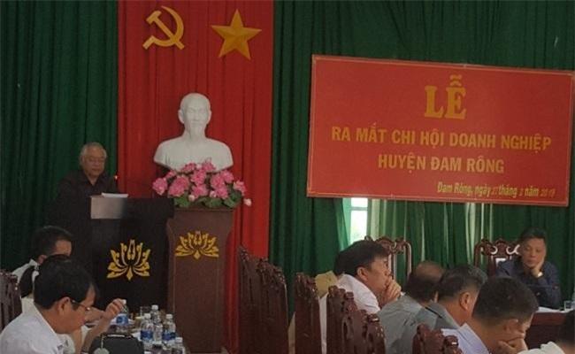 Chủ tịch Hiệp hội Doanh nghiệp tỉnh Lâm Đồng phát biểu tại lễ công bố (Ảnh: MH)